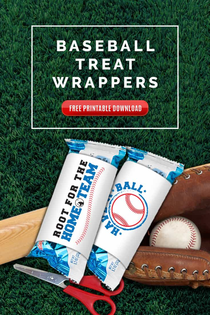 Free Baseball Treats printable wrapper download. If you have kids playing Baseball, chances are you will be called to provide treats at some point. Be the best Baseball Mom with these Baseball Treat wrappers! via @SidelineWarrior