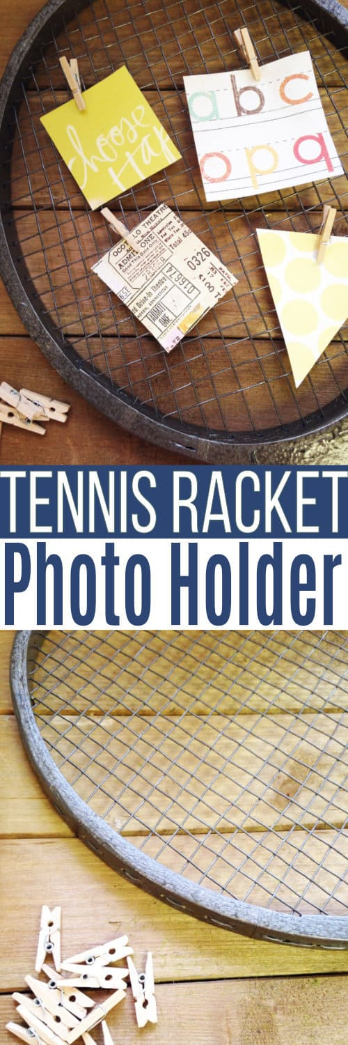 This tennis racket craft is so simple to make and would be perfect for any tennis sports family, an aspiring tennis pro, or even to be gifted as a Tennis coach gift.  via @SidelineWarrior