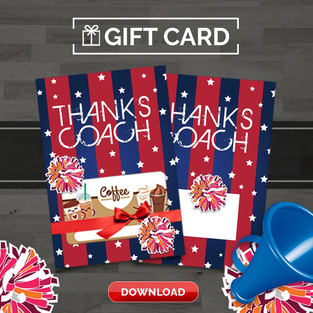 Cheer Coach Thank You Card
