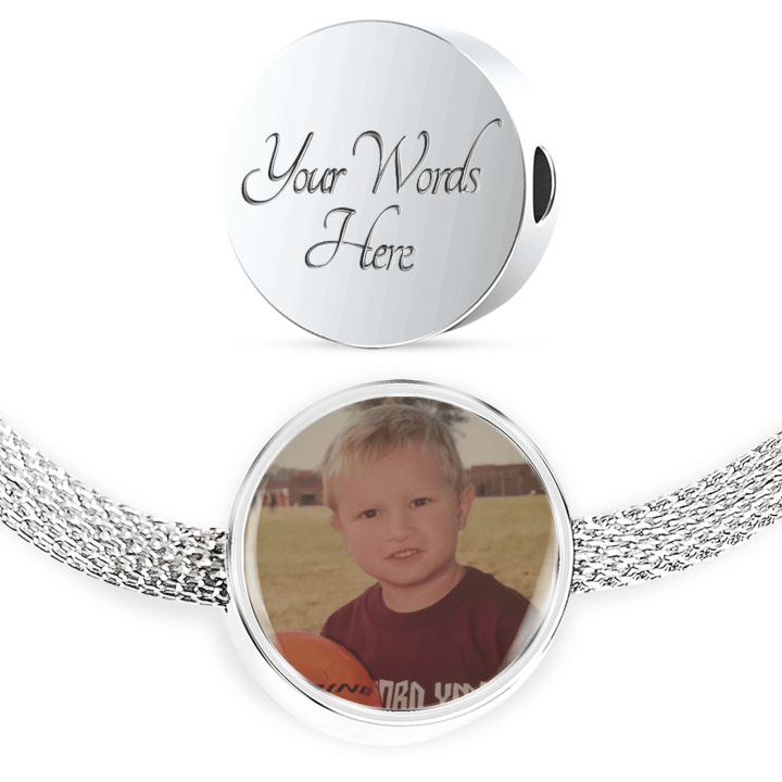 Sports Mom Custom Photo Upload Charm