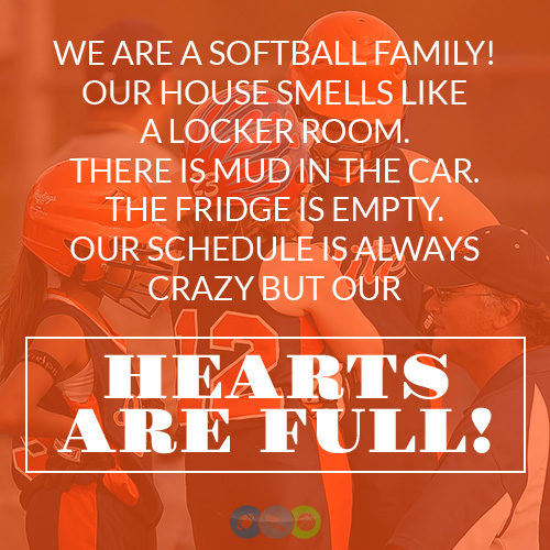 We are a Softball Family