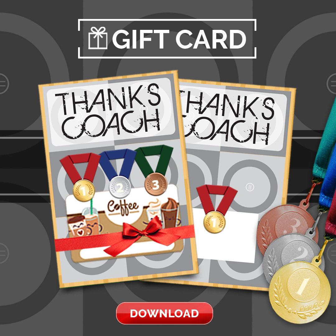 Wrestling Coach Thank You Card